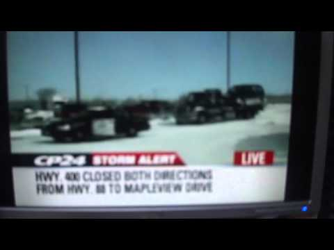 CP24 STORM ALERT: Highway 400 closed due to whiteouts and muliti-vehicle pileups
