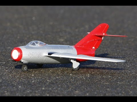 E-Flite UMX MiG-15 EDF Jet UNBOXING and FLIGHT REVIEW with AS3X and SAFE Select (EFLU6050)