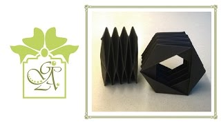 Hexagonal Bellows Fold or Accordion Fold. (Card Folding Tutorial).
