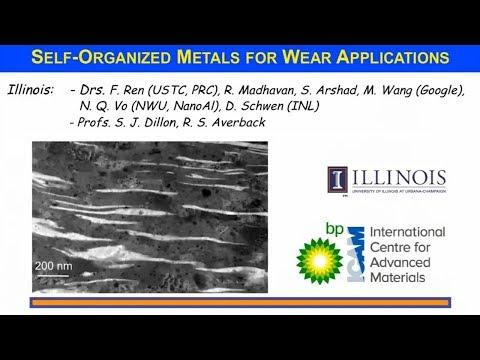 BP-ICAM Webinar Series 2017: Self-Organized Metallic Alloys for Wear Applications