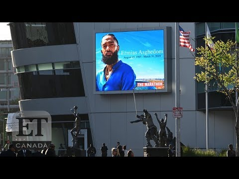 Beyonce Chance The Rapper Attend Nipsey Hussle LA Memorial