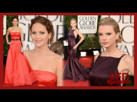 Taylor Swift & Jennifer Lawrence Golden Globe 2013 Style