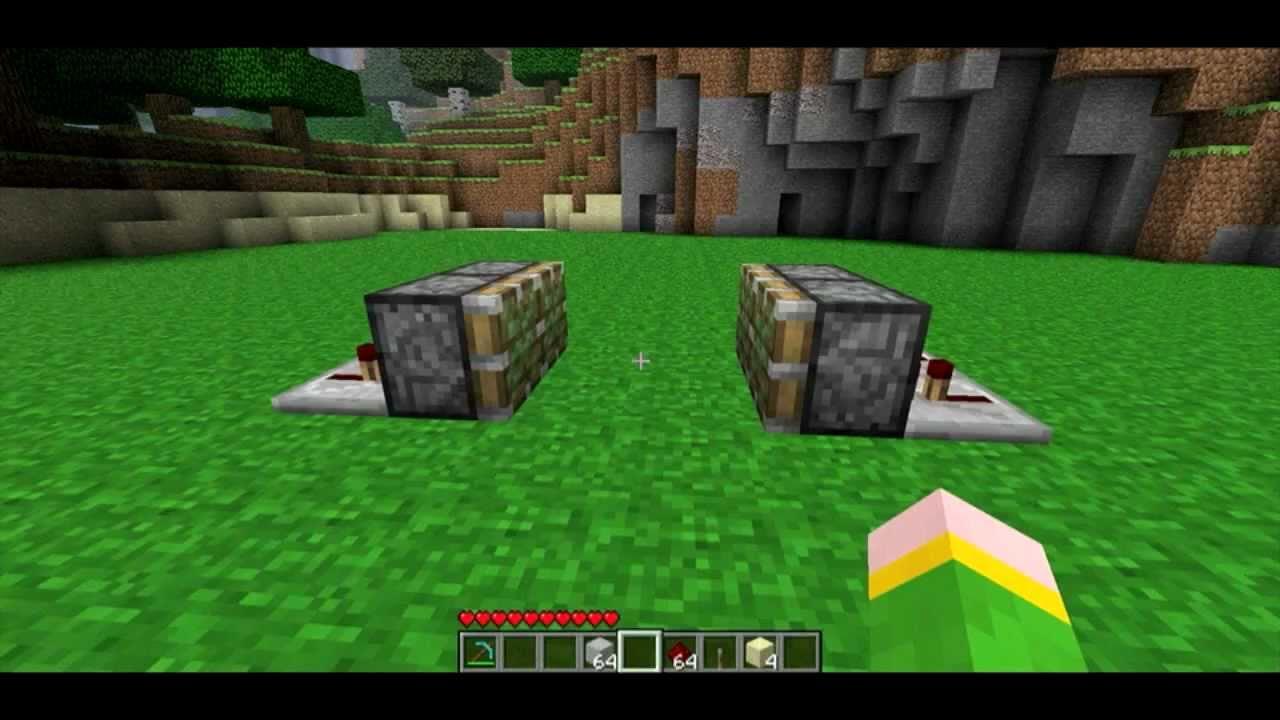 Minecraft: How To Make a Piston Trap Door