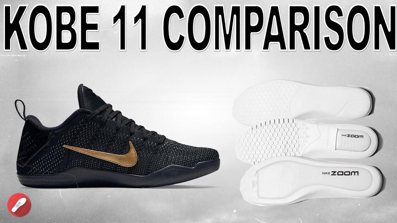 outlet store 4f8ea 275b7 Nike Kobe 11 Lunarlon ZOOM Comparison!