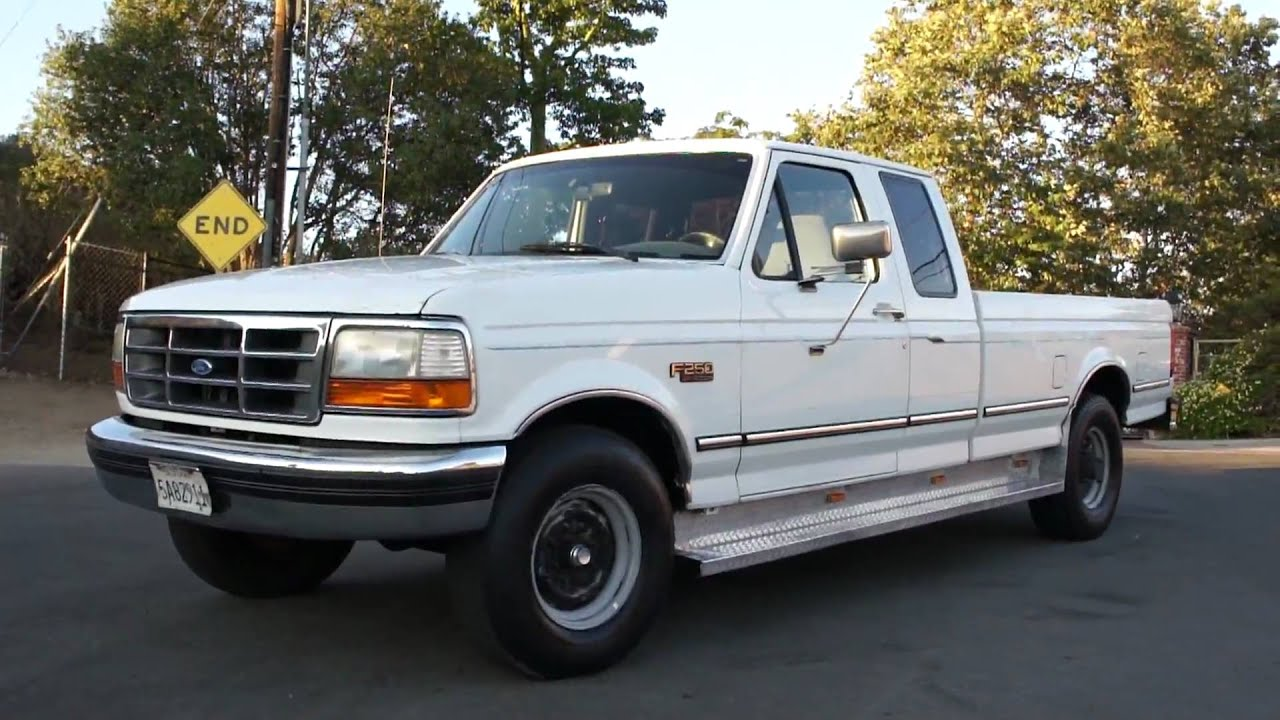 1995 Ford F250 XLT Tow pkg 5th wheel X cab pickup 1 Owner