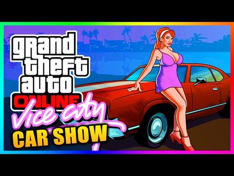 "GTA 5 Online - ""Vice City"" 80's Theme Car Showcase! Vice City Car Show In GTA Online! (GTA V)"