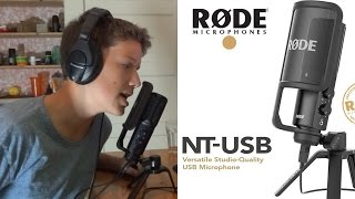 unboxing + test + review of the Rode NT-USB voice over microphone