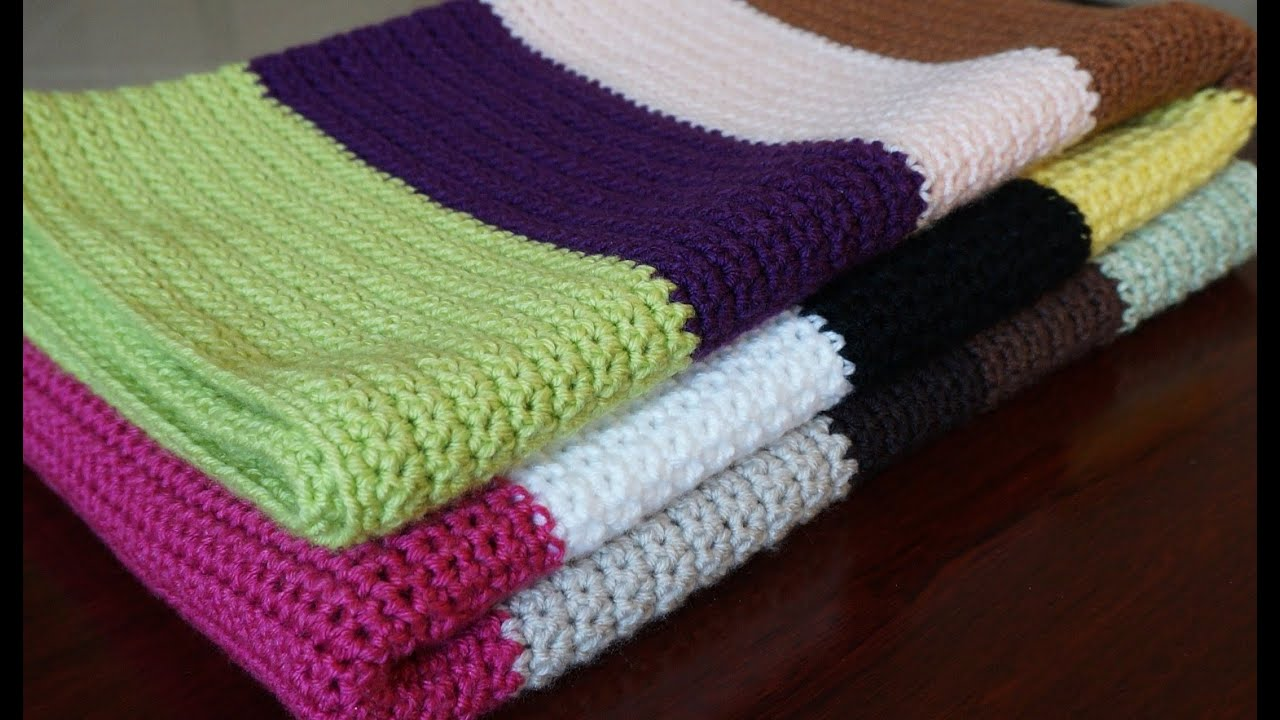 Single crochet blanket - YouTube