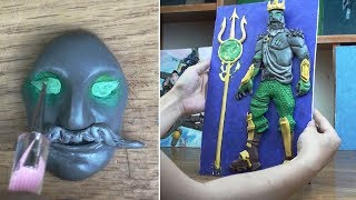 Poseidon skin (fortnite Battle Royale) Polymer clay tutorial