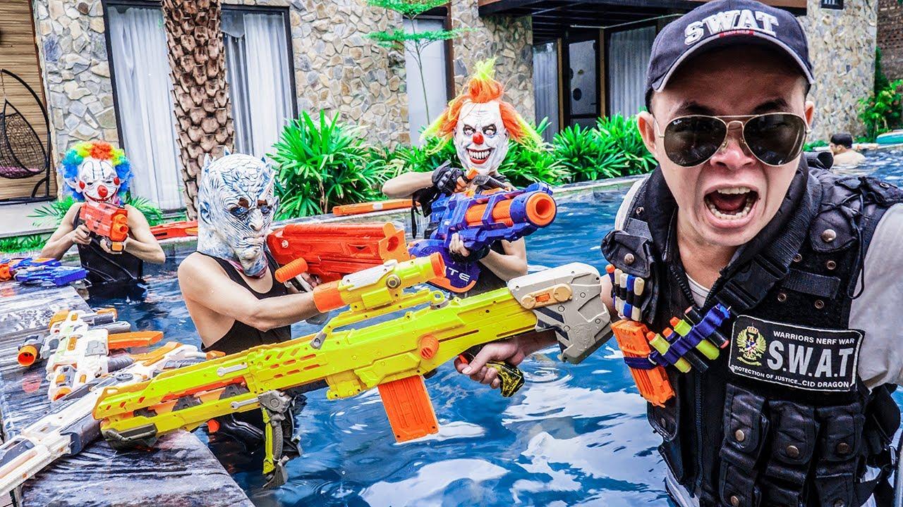 MASK Nerf War : Captain Alpha Warriors Nerf Guns Fight King's Man Mask The Last Avenger