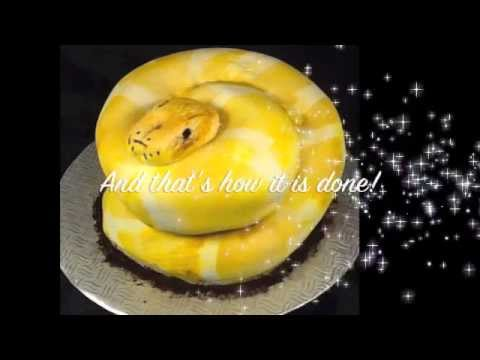 Snake Cake Tutorial by Terrys Cake Shop  YouTube