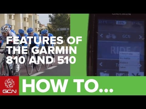 Garmin Edge 510 and 810 GPS - New Features