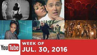 Top 10 Songs - Week Of July 30, 2016 (YouTube)