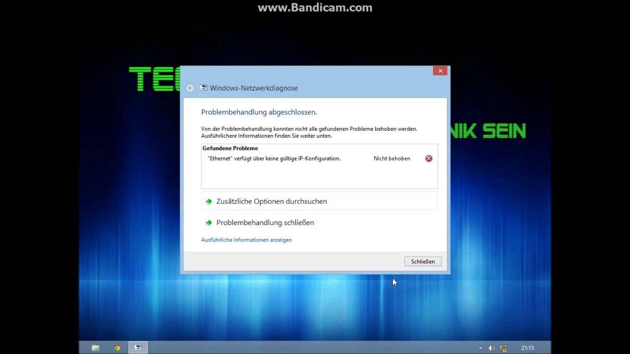 Ethernet 2 Verfügt über Keine Gültige Ip Konfiguration