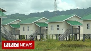 Myanmar camps built on destroyed Rohingya villages - BBC News