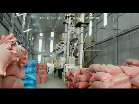 SINCO RICE PROCESSING PLANT 5T H  PADDY IN