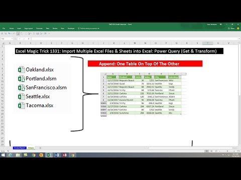 Excel Magic Trick 1331: Import Multiple Excel Files & Sheets into Excel: Power Query Get & Transform