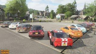 Forza Horizon 4 Drift Car Show! JDM Tandems, Drift Montage, Downhill Battle And More!