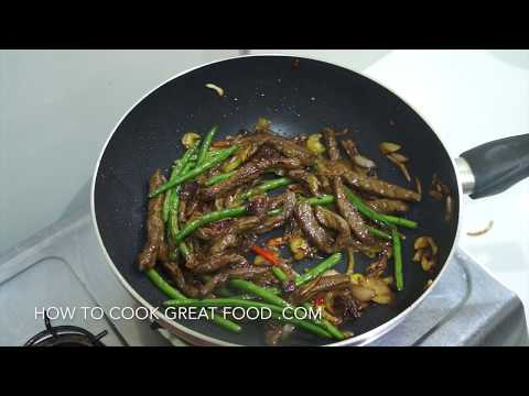 Chinese Stir Fry Beef & Beans Oyster Sauce Recipe