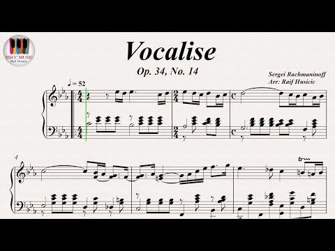 Vocalise, Op. 34, No. 14 - Sergei Rachmaninoff, Piano