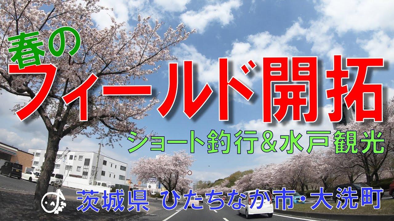 春の新フィールド開拓!行きたかったあの場所へ!釣り少なめです な茨城県ひたちなか市・大洗町と水戸 2021.4(1)