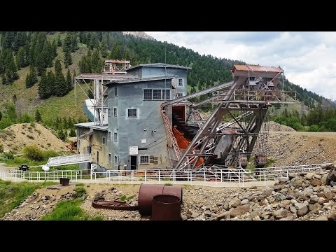 Historic Gold Dredge on the Yankee Fork – between Bonanza-Custer, Idaho
