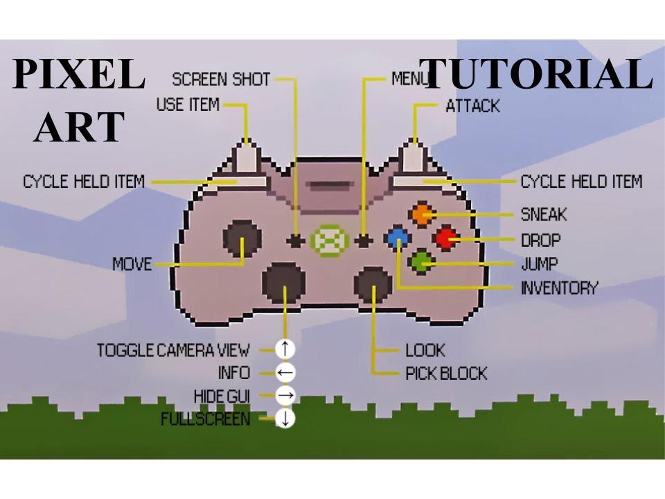 Minecraft Pixel Art Tutorial - Episode 1 - XBOX 360 Controller - YouTube