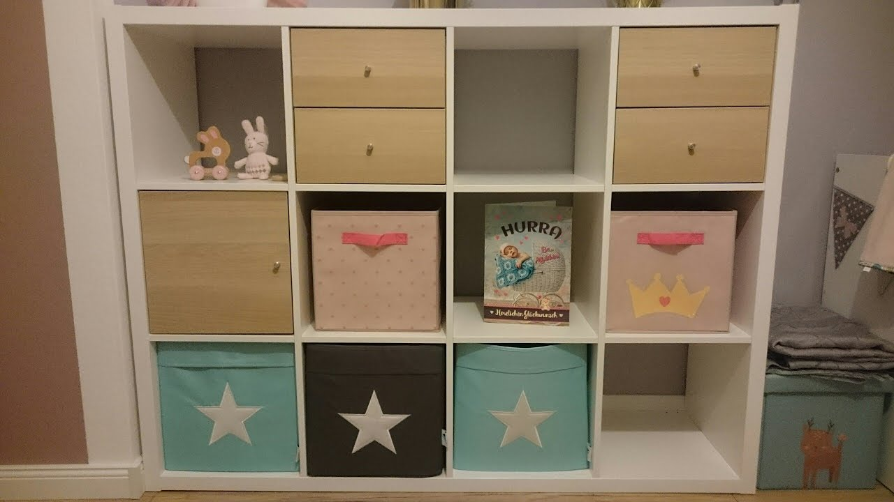 Kallax Regal Tur Schubladen Box Idee Beispiel Aufbau Kinderzimmer Ikea 4x3 Einbauen Aufbauen