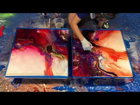 "The making of ""PASIÓN"" - Resin painting"