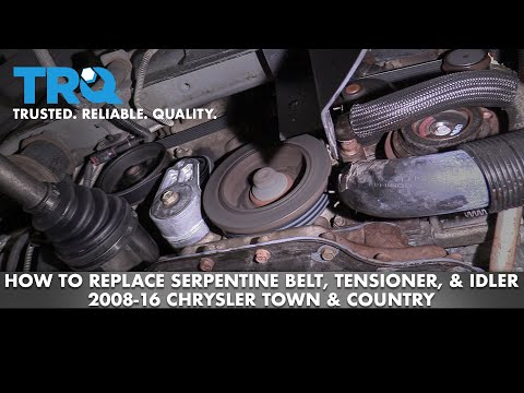 How to Replace Serpentine Belt, Tensioner, Idler 08-16 Chrysler Town & Country