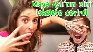 Maya turned Ash's Hands into Skeletons | Our Family
