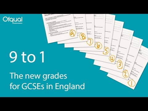GCSE grades are changing from summer 2017