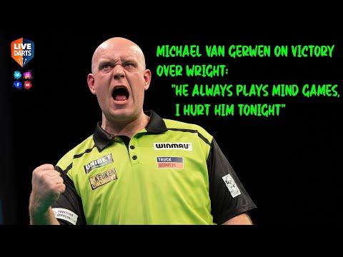 "Michael van Gerwen on victory over Wright: ""He always plays mind games, I hurt him tonight"""