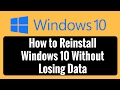 How to Reinstall Windows 10 Without Losi