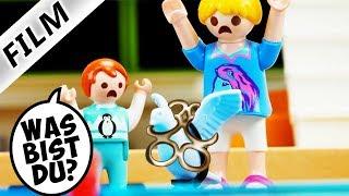 Playmobil Film deutsch TIER NACHTS AM POOL? Hannah & Emma hören Geräusche Kinderserie Familie Vogel