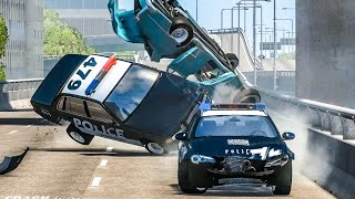 EPIC POLICE TAKEDOWNS & FAILS #7 - BeamNG Drive Crashes
