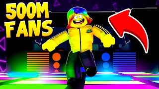 I Became the BIGGEST DANCER and got 500,000,000 FANS (Roblox Dancing Simulator)