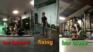 how to keep the bar close to the body at clean - pull assistance exercise