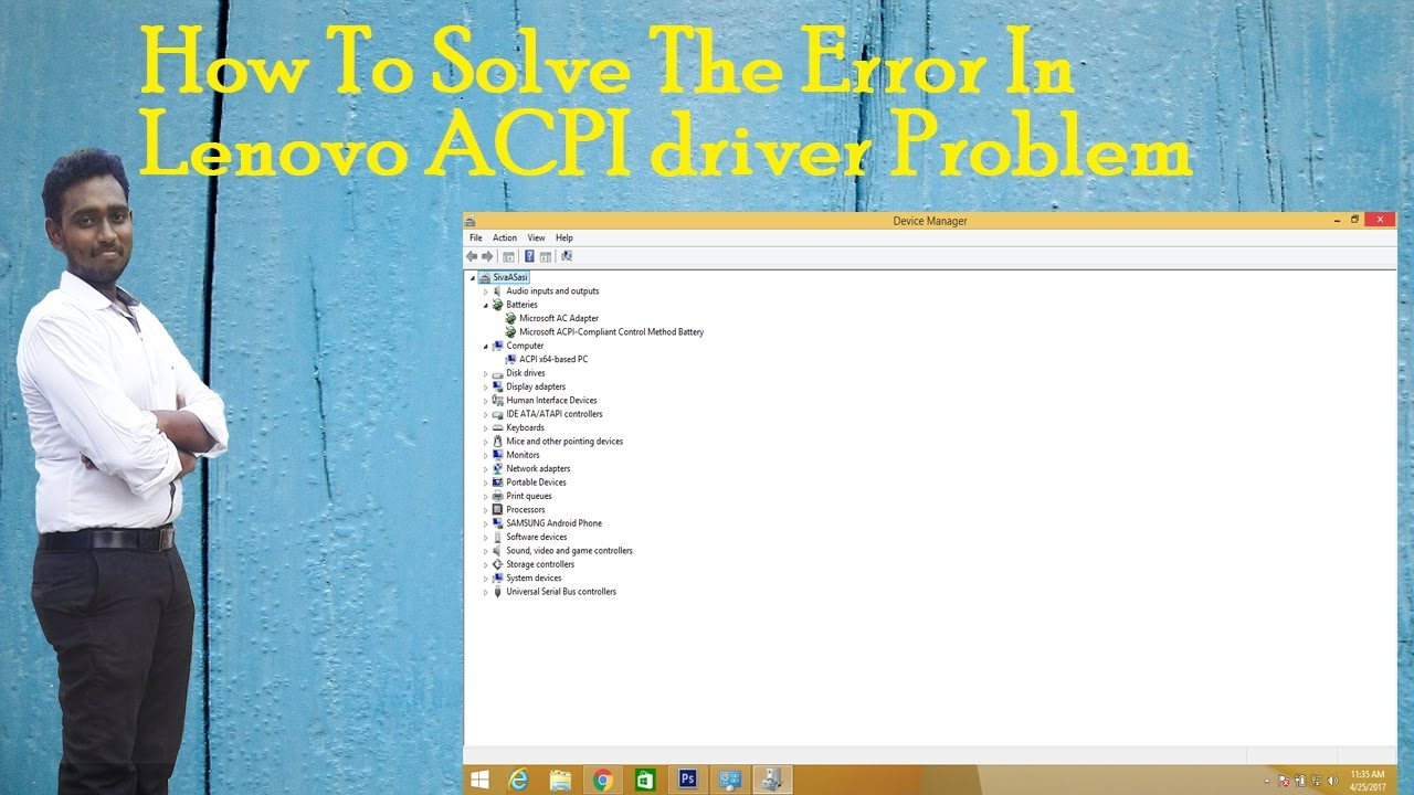 How to solve the error in lenovo ACPI error with full installtion