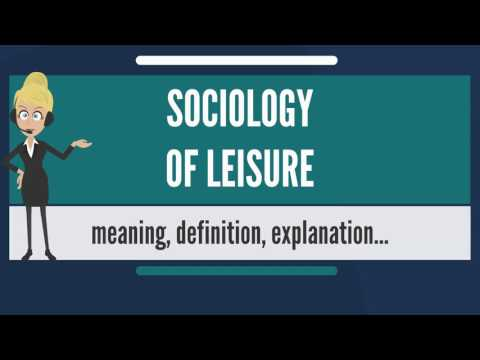 What is SOCIOLOGY OF LEISURE? What does SOCIOLOGY OF LEISURE mean? SOCIOLOGY OF LEISURE meaning