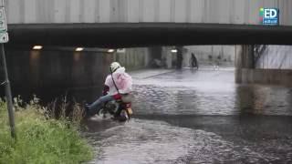 Wateroverlast in Eindhoven: Tunnels vol water