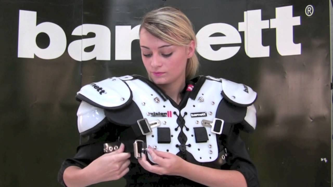 American football shoulder pad vision ii by barnett youtube