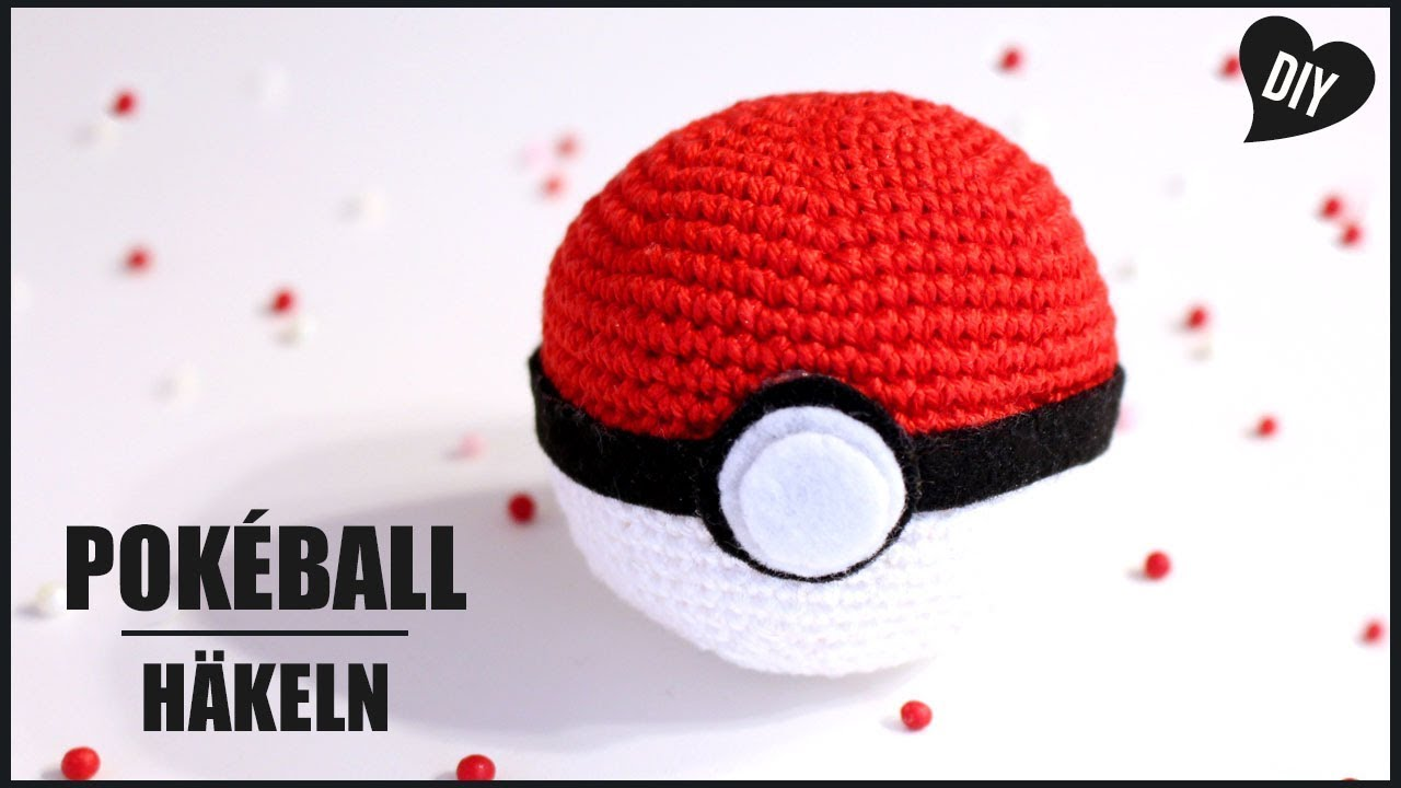 Pokeball Häkeln Pokemon Häkelanleitung Amigurumi Diy By