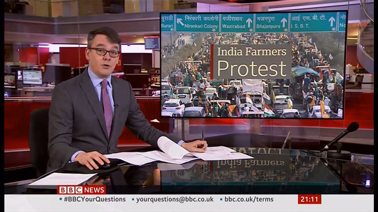 Farm protests update (roads blocked) (India) - BBC News - 6th February 2021
