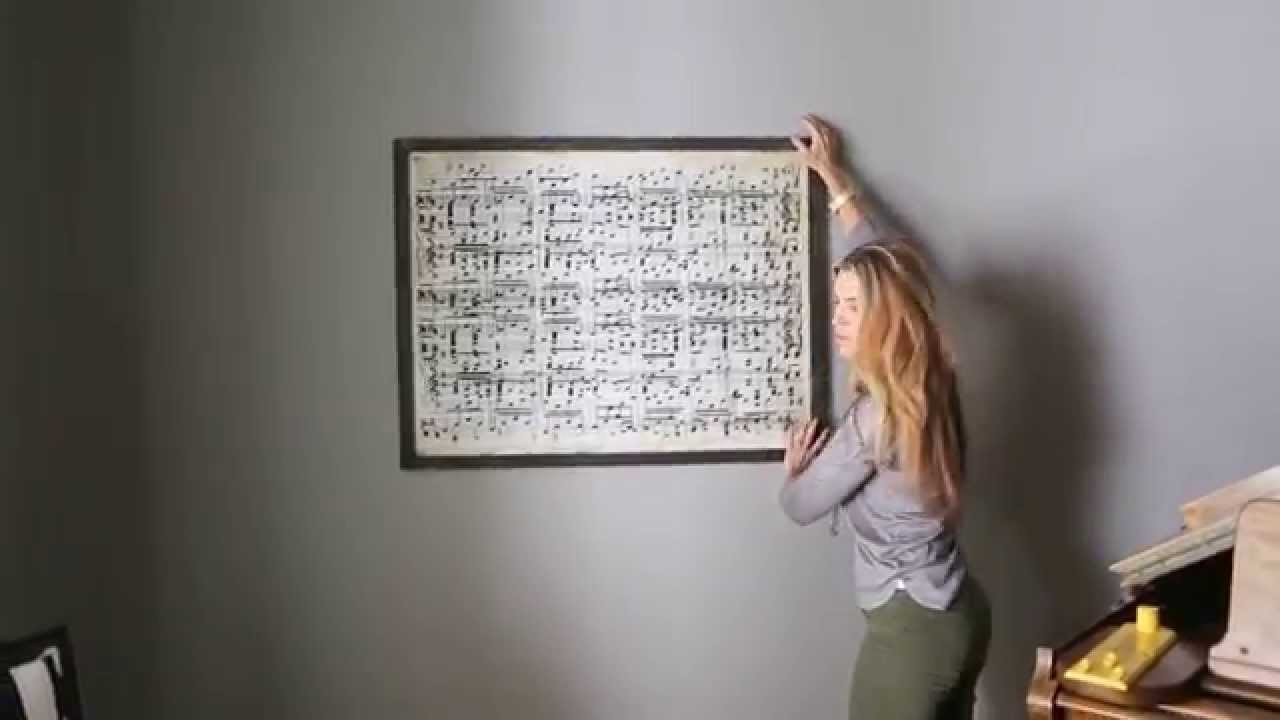 Hanging Art That Has D-Rings - YouTube