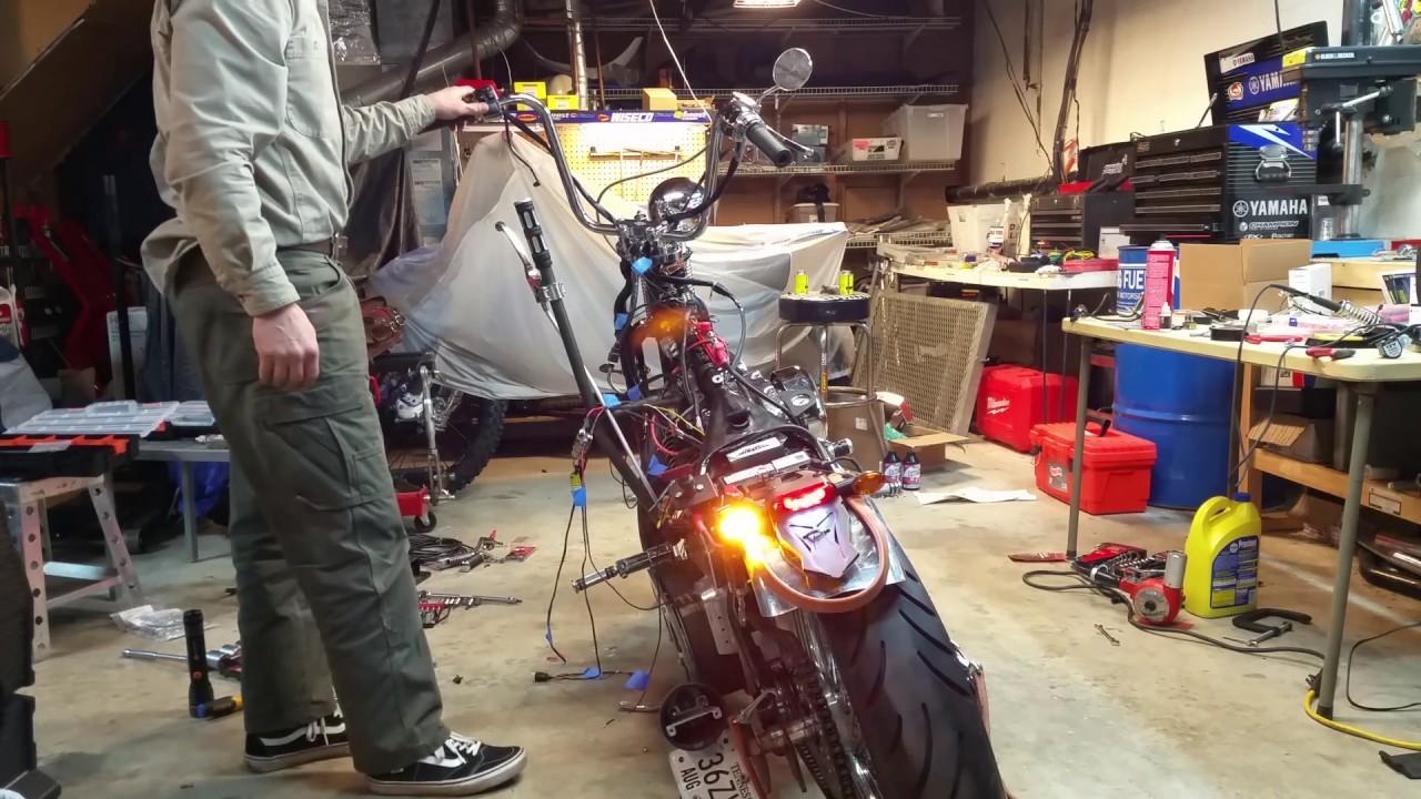 Ultima 18 533 Wiring Harness Installed On Custom Harley Bobber