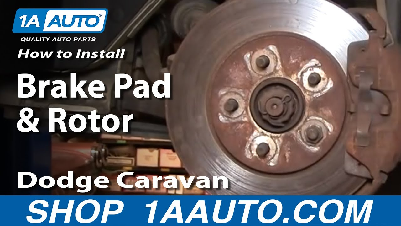 How to Replace Front Brakes 96-00 Dodge Caravan