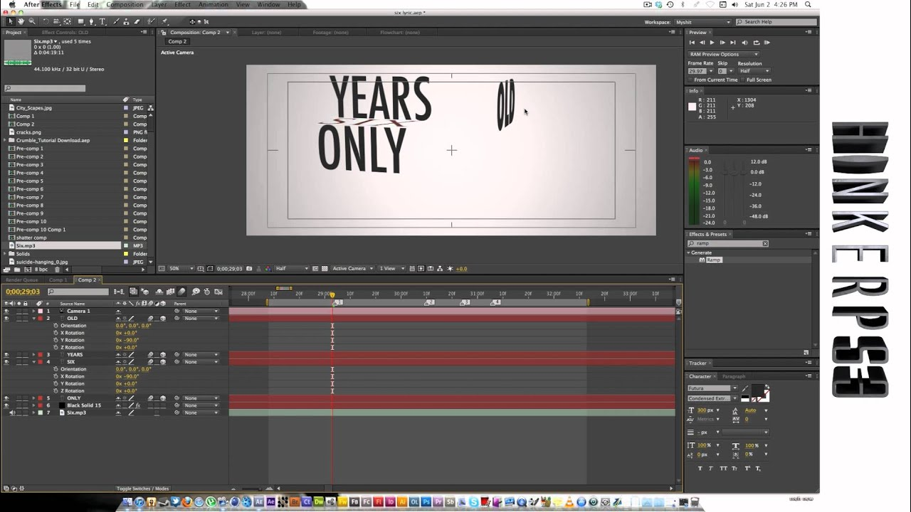 adobe after effects tutorial kinetic typography youtube
