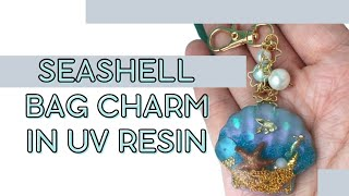 Sophie & Toffee June box - Seashell bag charm in UV resin