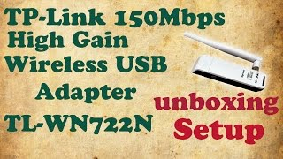 [Hindi] TP-Link High Gain Wireless USB Adapter TL-WN722N | Unboxing | Review | Setup | Bloopers 😎